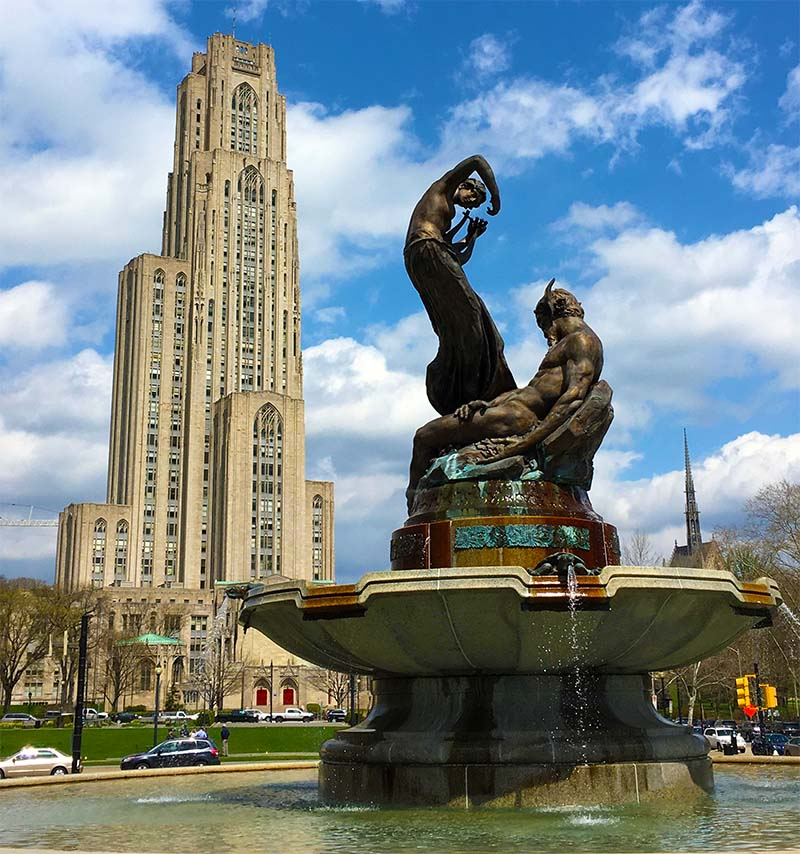 University of Pittsburgh Campus with Cathedral of Learning in background